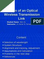 Design of an Optical Wireless Link.ppt