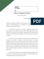 """Discurso de presentación del libro """"El Estigma de Patricio"""""""