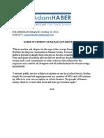 Haber Statement on Nassau GOP Indictments