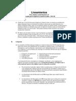 Latin America Proyectos Lineamientos
