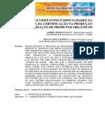 Fatores Limitantes e Dificuldades Na Permanência Da Certificação Na Produção e Comercialização de Produtos Orgânicos