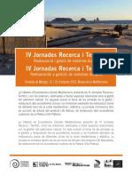 IV Jornades Recerca i Territori