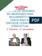 Modelo de Sesiones en Abordajes Para Seguimiento de Casos Bajo El Enfoque Cognitivo Conductual