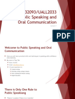 Lecture 1 Slides- MPU32093 UALL2033 Public Speaking and Oral Communication
