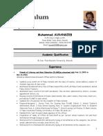 Curriculum Vitae-zeb 31-07-2016