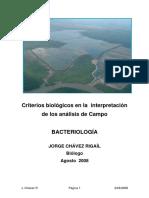 Criterios Biológicos en La Interpretación de Los Análisis de Campo - Bacteriología
