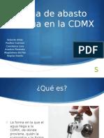 1,1 Sistema de Abasto de Agua CDMX