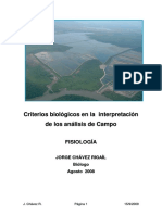 Criterios Biológicos en La Interpretación de Los Análisis de Campo - Fisiología