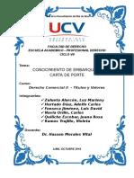 CONOCIMIENTO DE EMBARQUE Y CARTA DE PORTE