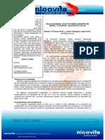 Baja Salinidad, Cultivo Tierra Adentro en Brasil y Ecuador (Boletin Nicovita - Alberto Nunez, Colon Velazquez)