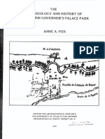 UTSA Spanish Governor's Palace archeology report