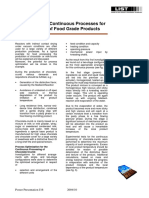 Food Optimization of Continuous Processes for the Production of Food Grade Products