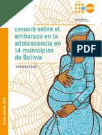 Estudio de Embarazo en Adolescentes en Bolivia