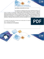 Guía de Actividades y Rúbrica de Evaluación Fase 2 Distribuciones de Probabilidad