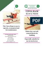 Cinva Ram Block Press Brochure