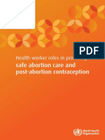 Health Worker Roles in Providing Safe Abortion Care and Post-Abortion Contraception