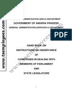 Handbook on Courtesies to MP, MLA