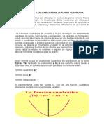 Importancia y Aplicabilidad de La Funion Cuadratica
