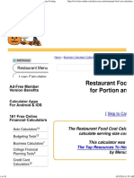 Restaurant Food Cost Calculator for Portion and Menu Costing