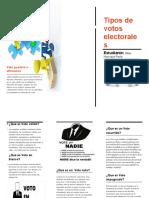 Tipos de Votos Electorales
