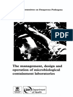 HSE Book - Management, Design, And Operation of Microbiological Containment Laboratories, 2001