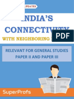 India's Connectivity With Neighbouring Nations Small - Superprofs Handouts