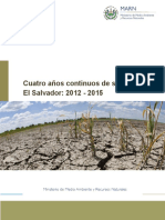 Cuatro años continuos de sequía en El Salvador