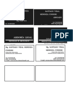 Tarjeta Nueva Santiago 1