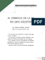N 3 El Simbolo de La Fe en San Agustin