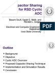 A Capacitor Sharing Technique for RSD Cyclic ADC