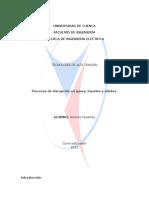 Alta Tension-proceso de Disrrupcion en Gases, Liquidos y Solidos
