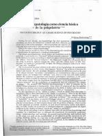 La Psicopatologia Como Ciencia Basica