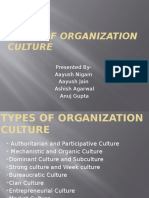 Types of Organization Culture