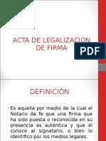 Acta de Legalizacion de Firma 1609