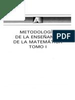 Metodología de La Enseñanza de La Matemática Tomo i