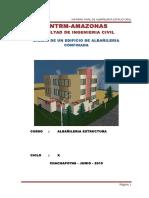 Informe de Presentación Albañilería confinada