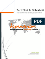 Keweon - Zertifikate - Private Key berechnen