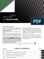 2009 Dodge Durango User Manual