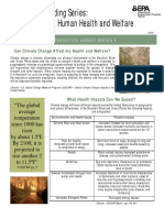 Knowledge Building Series Climate Change Human Health and Welfare