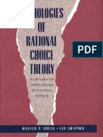 Donald Green, Ian Shapiro-Pathologies of Rational Choice Theory_ a Critique of Applications in Political Science-Yale University Press (1996)