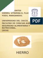Exposicion Segundo Corte- Micronutrientes.