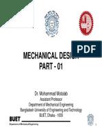 1) Machine Design Lecture