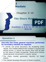 Tutorial 10 - Chapter 10 - The Share Market