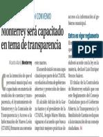 19-10-16 Monterrey será capacitado en tema de transparencia