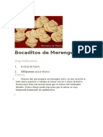 Bocaditos de Merengue