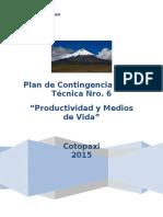 Plan de Contingencia MTT6-COTOPAXI