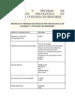 Tecnicas Evaluacion Psicologica Forense Guarda y Custodia