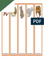 British Wildlife Animals Bookmarks