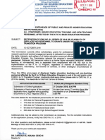 CHED RO III Memo Reiteration of CMO 51