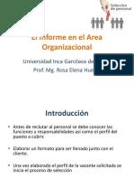 El Informe en El Area Organizacional 4